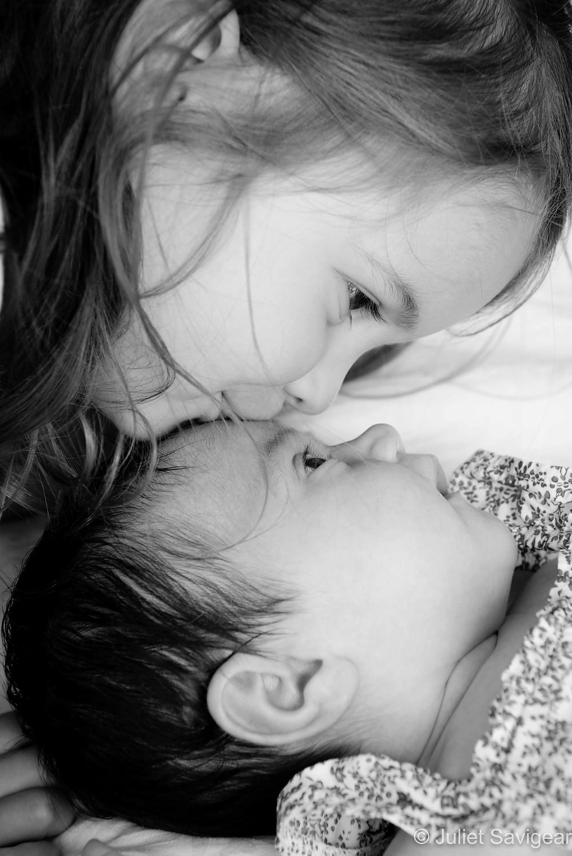 Sisterly kiss
