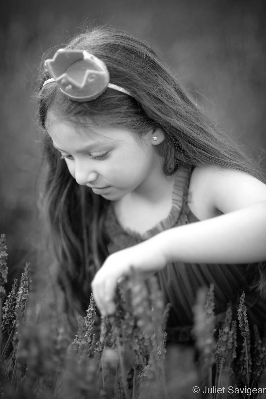 Child amongst the lavender