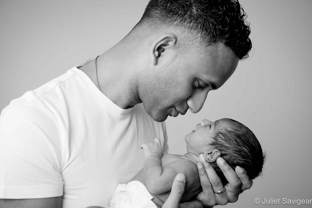Daddy's Girl - Newborn Baby Photography, Norbury