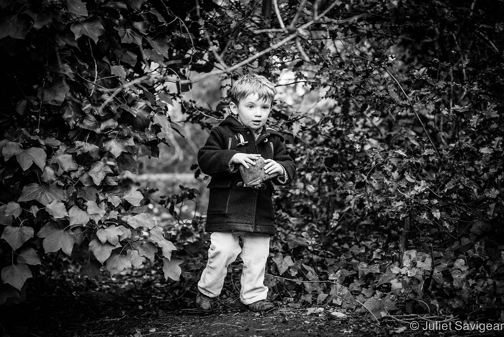Appearing Through The Ivy - Children's Photography, Chiswick
