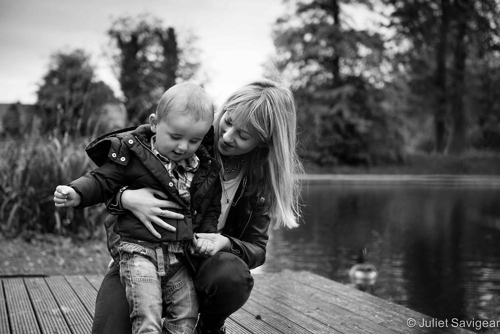Feeding The Ducks - Baby & Family Photography, Tottenham