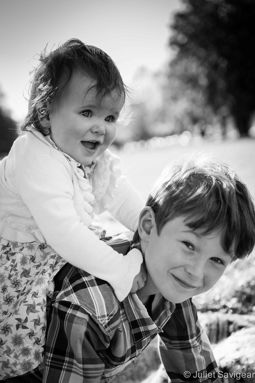 Piggy Backs - Children's Portrait Photography, Clapham