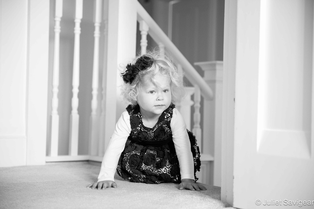 At The Top Of The Stairs - Children's Photography, Surrey