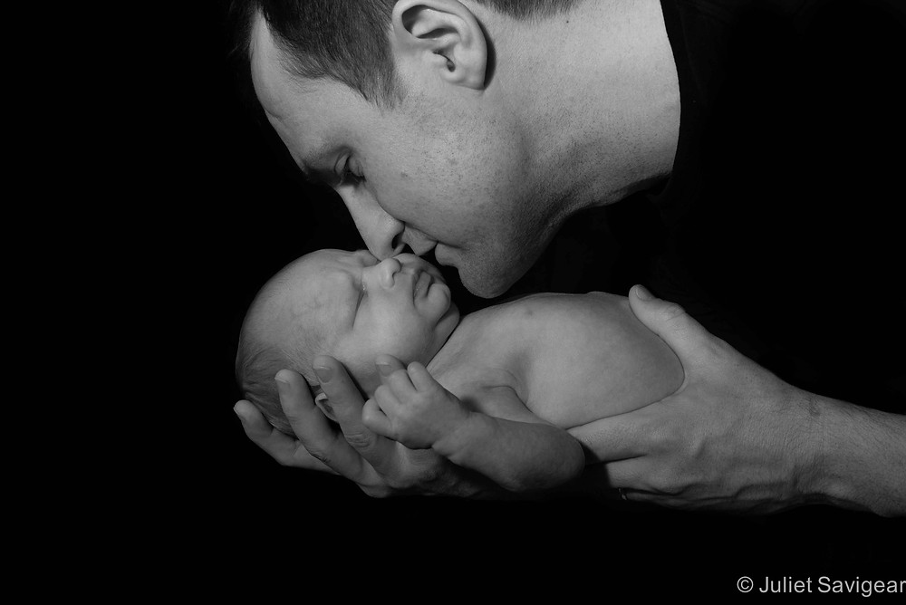 Father & Son - Newborn baby photography, Tooting Bec