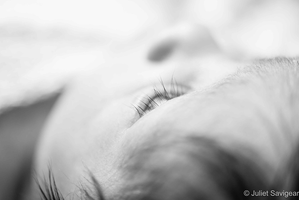 Long Lashes - Newborn Baby Photograph, Colliers Wood