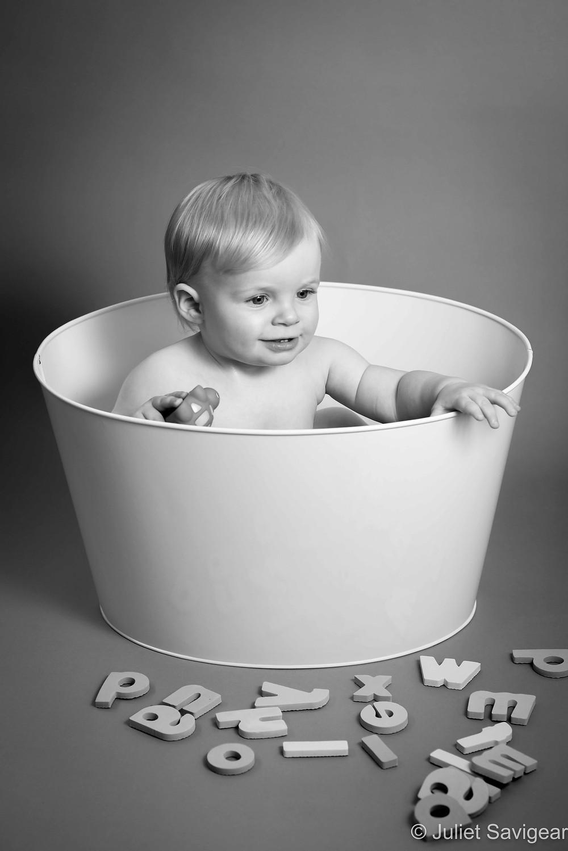 Baby in bath tub