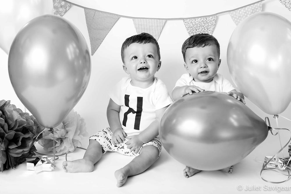 Twin boys first birthday