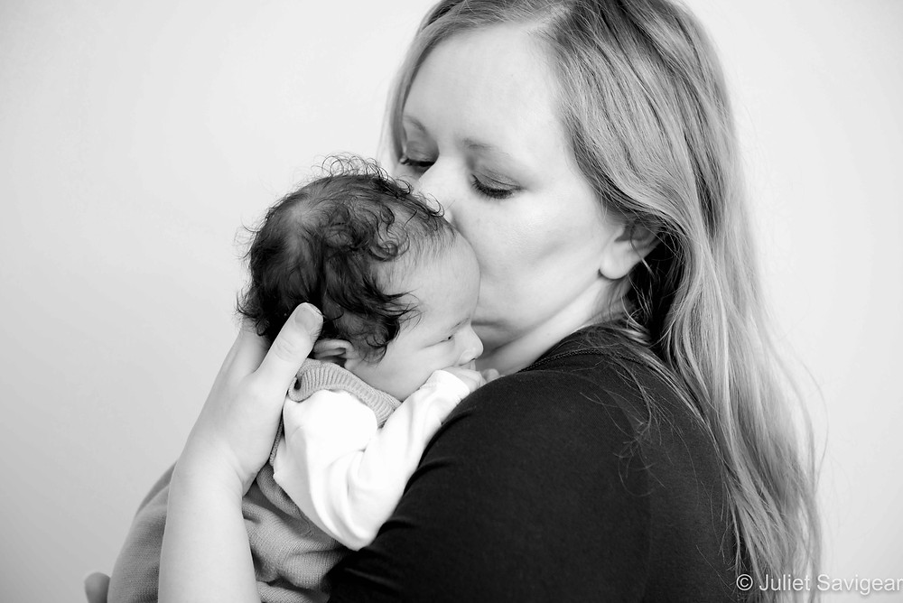 Baby in mother's arms