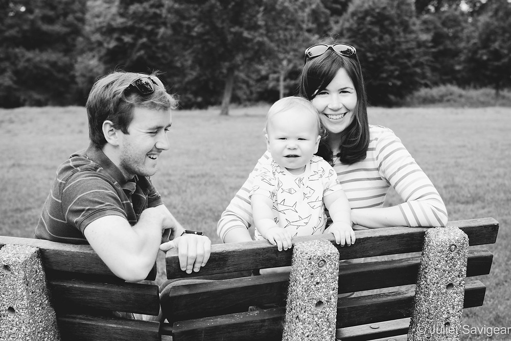 Family Photography On Park Bench