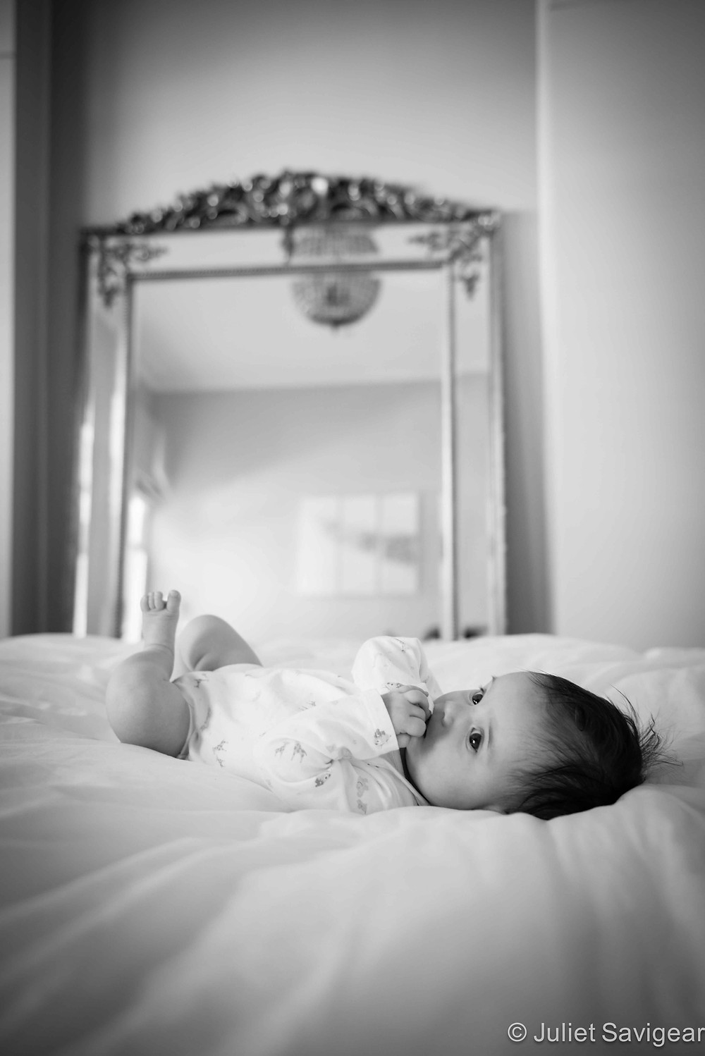On The Bed - Baby Photography, Balham