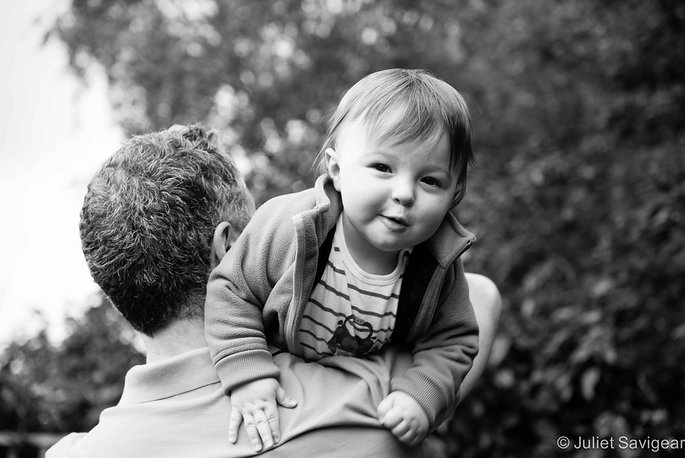 Fireman's Lift - First Birthday & Family Photo Shoot, Wimbledon
