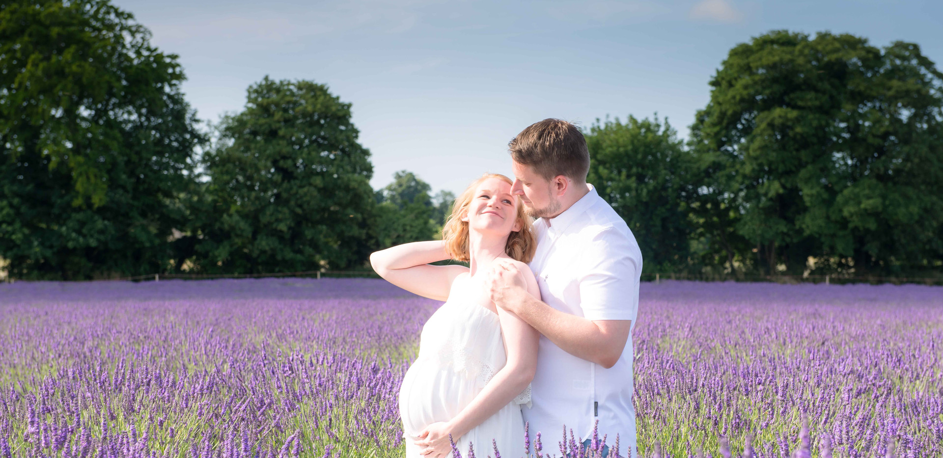 Couple In Lavender Fields