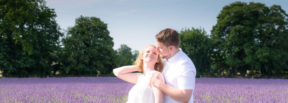 Couple In Lavender Fields
