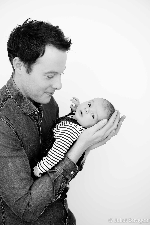 Father & newborn baby