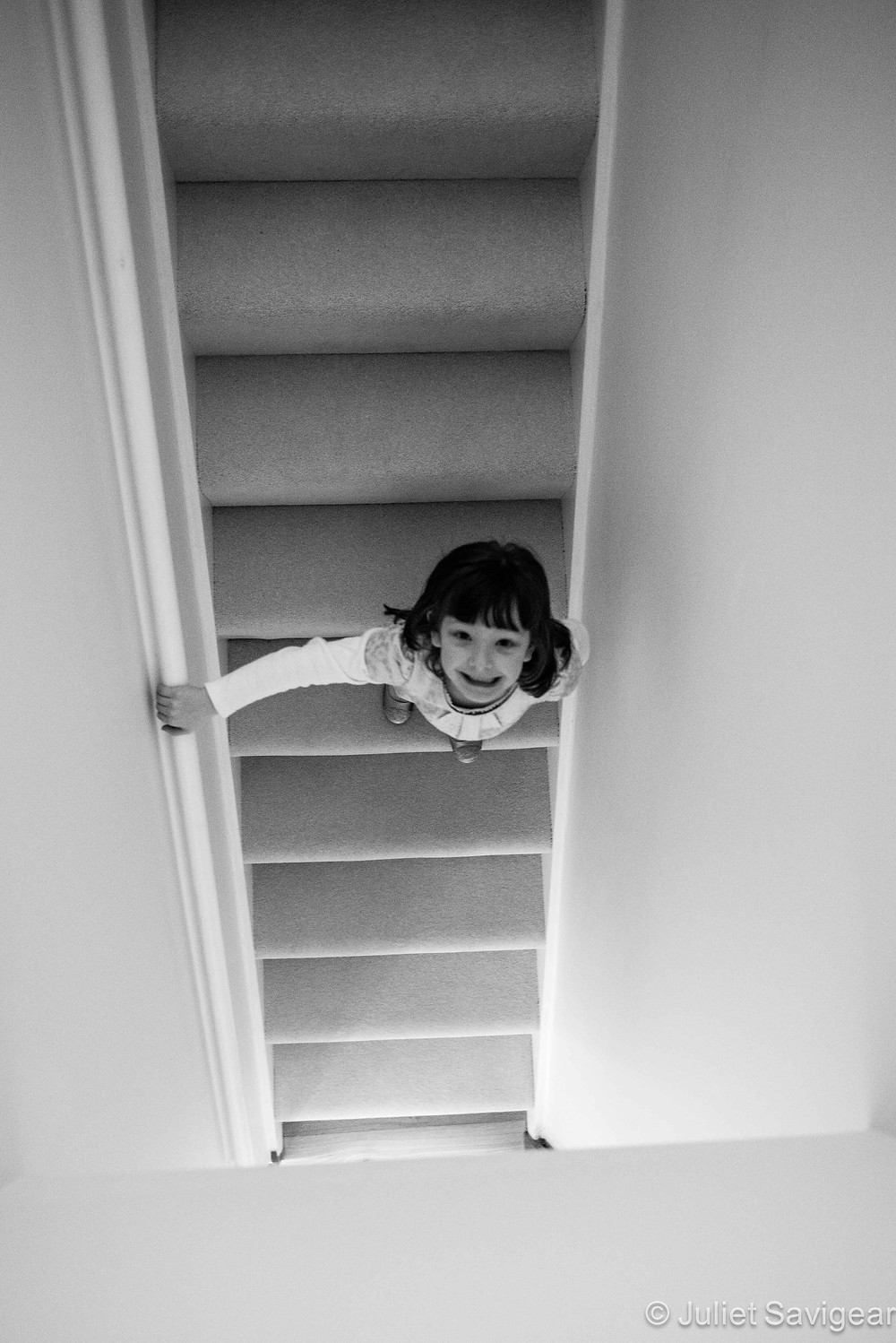Down The Stairs - Children's Photography, Purley