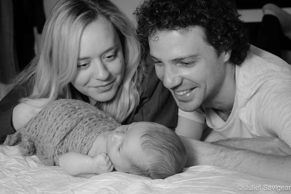 Natural newborn baby and family photography