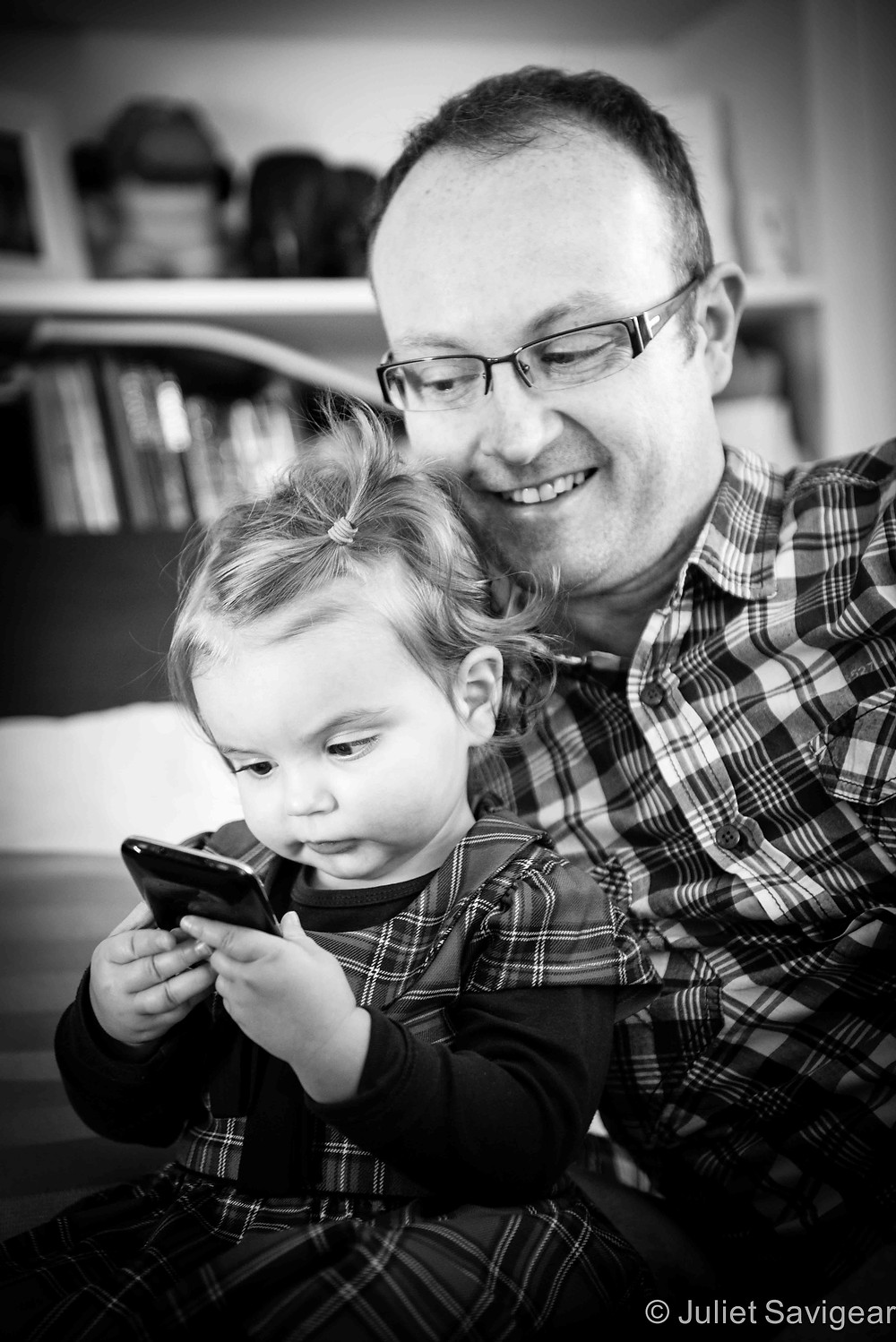 In Daddy's Arms - Family Photography, Norwood