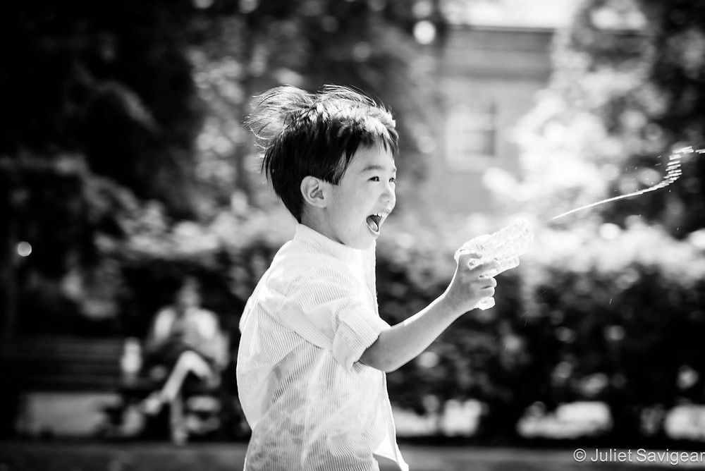 Water Fight Fun - Family Photography, Wapping, London