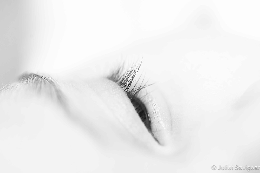 Close Up Of Eye Lashes - Baby Photography, Bayswater