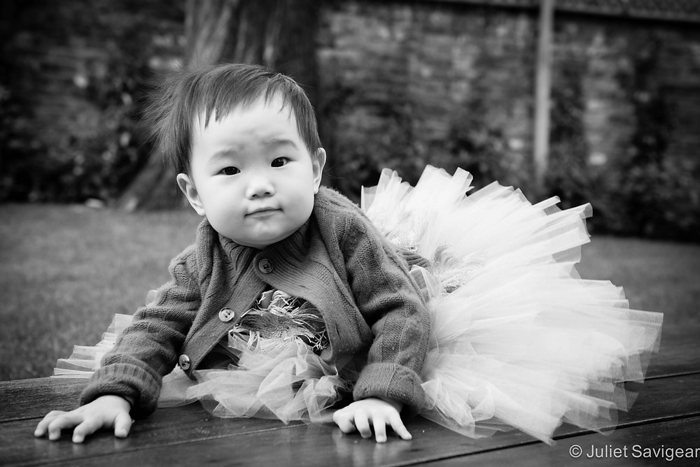 Posing In The Garden - Baby Photography, St Johns Wood