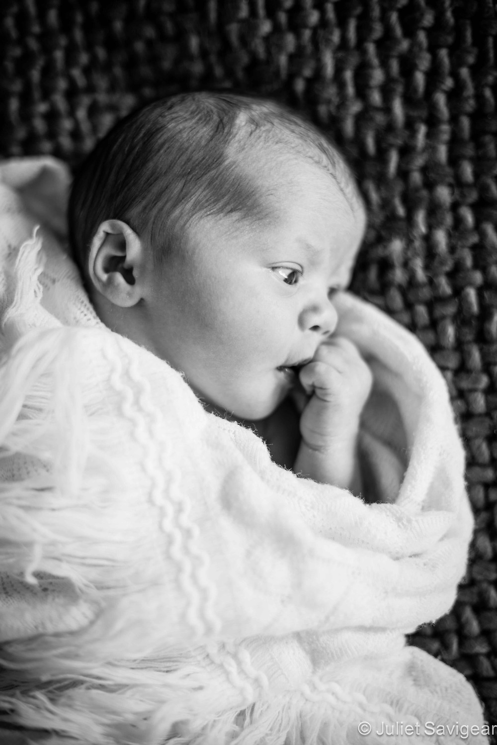 In Thought - Newborn Baby Photography, Wimbledon