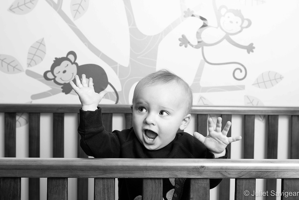 In The Cot - Baby Photography - Ealing