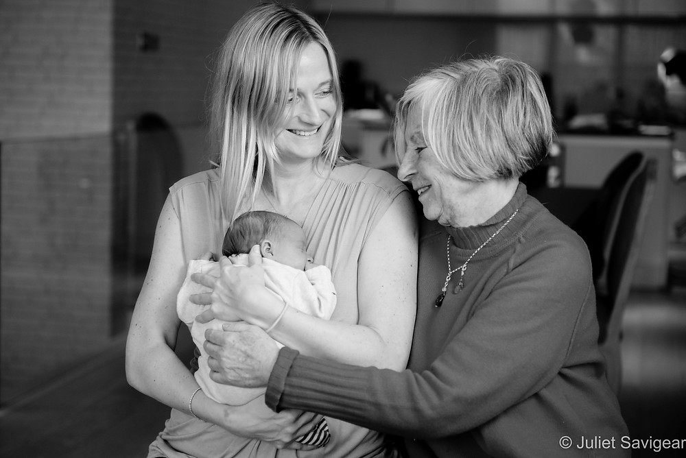 Family photo with grandma