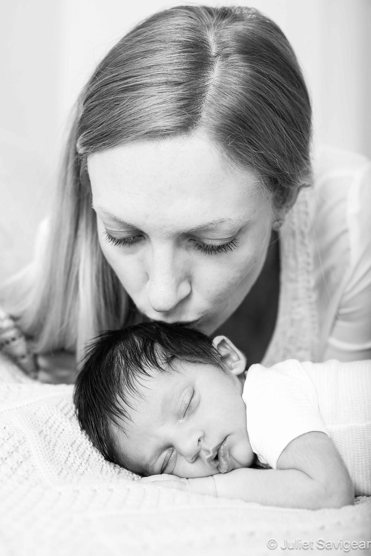 Kissing Baby - Newborn Baby & Family Photography, Streatham