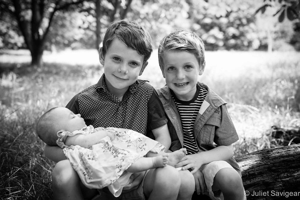 Meeting Our Baby Cousin - Children's Photography, Tooting Common
