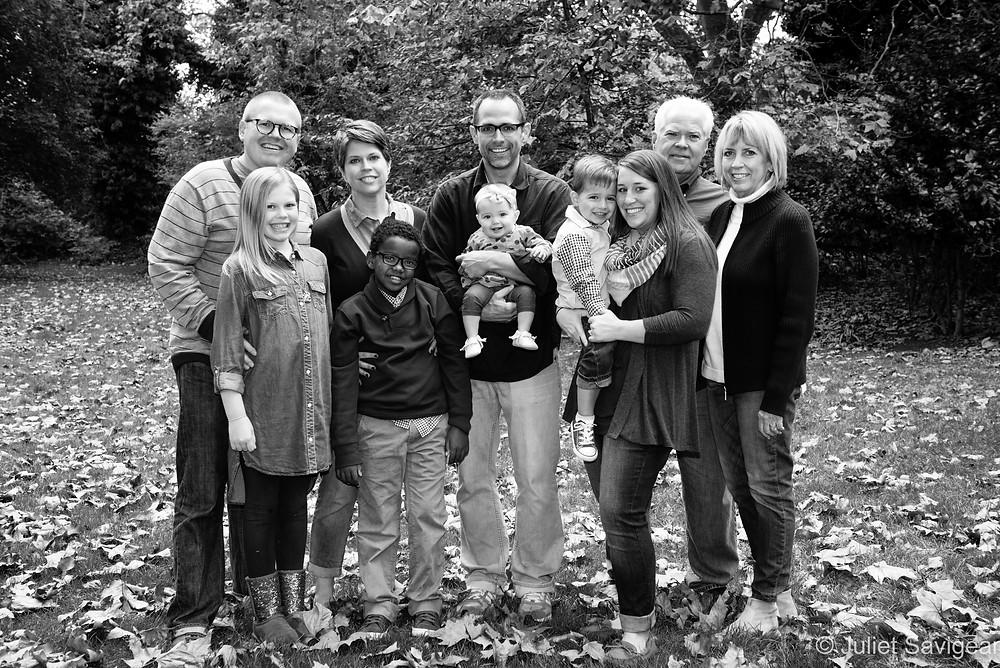 Extended Family Portrait Photography - Southwark Park, London