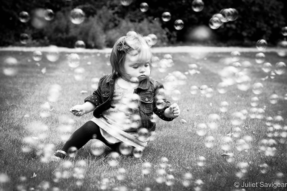 Bubbles - Children's Photography, South Kensington