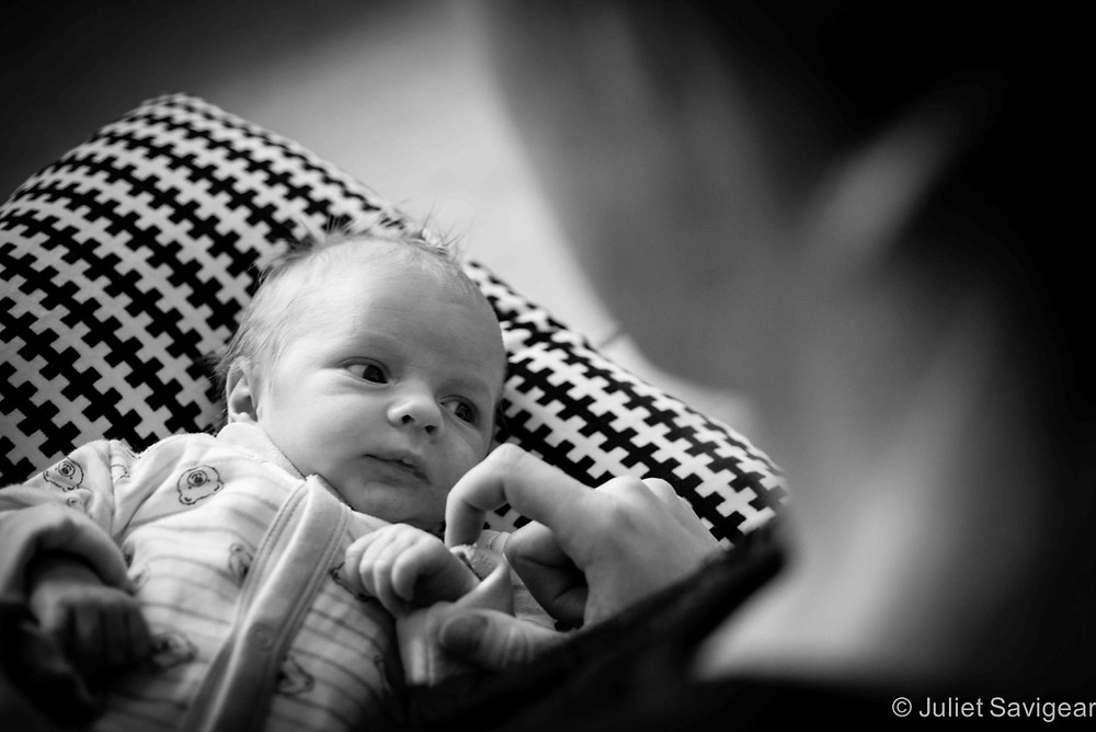 Newborn baby lying with mummy - Streatham