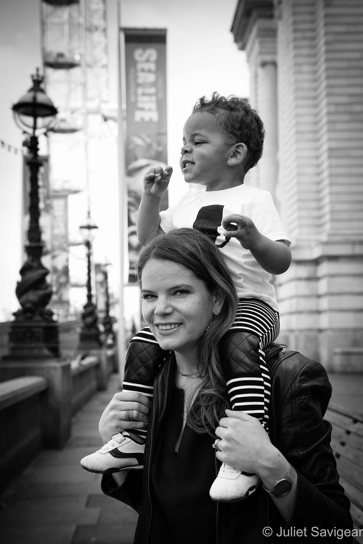 Piggy Back - Family Photographer, London
