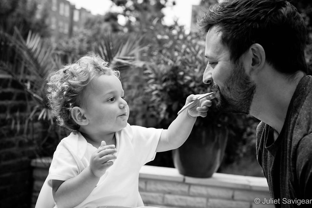 Feeding! Family Photography, Maida Vale