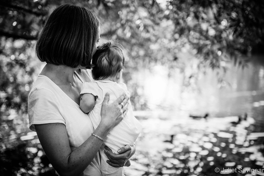Watching The Ducks - Baby & Family Photography, Wandsworth Common