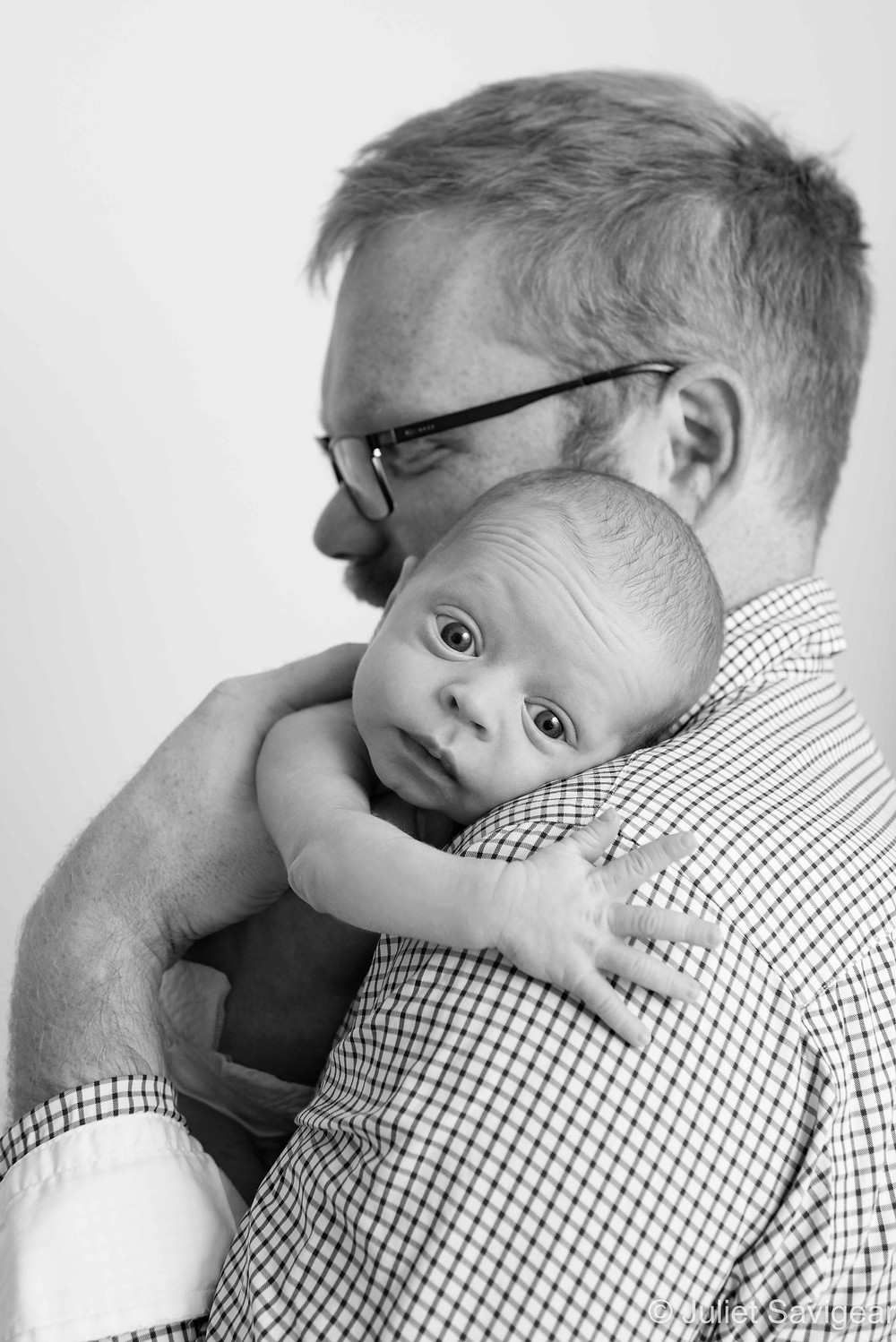On Daddy's Shoulder - Newborn Baby Photography, Earlsfield