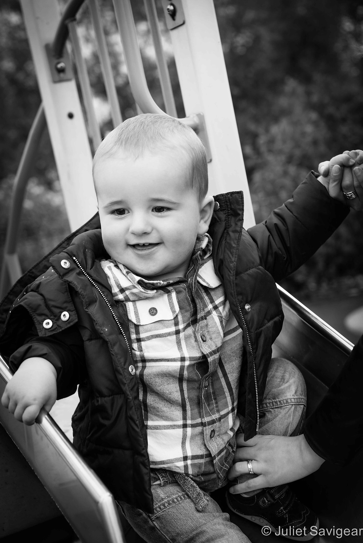 Down The Slide - Baby Photography, Tottenham