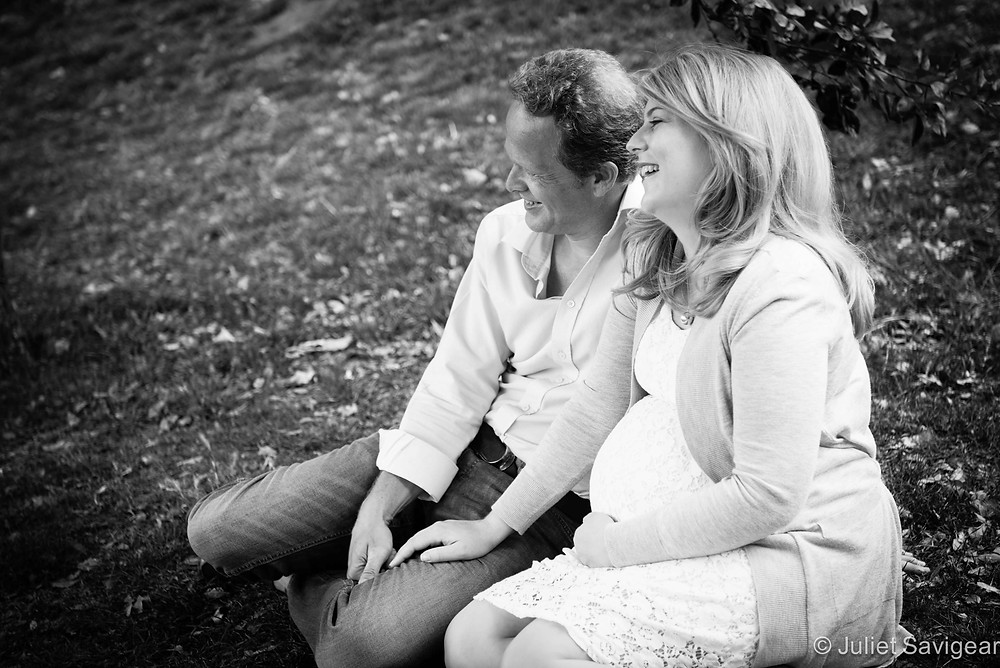 On The Grassy Bank - Maternity Photography, Richmond