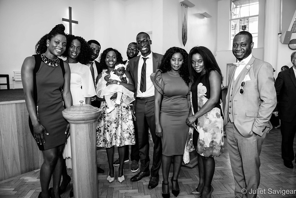 Baby's christening - friends & family