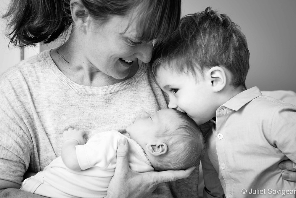 Brotherly Kiss - Newborn Baby & Family Photography, Tooting