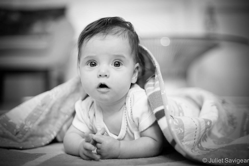 Under The Blanket - Baby Photography, Balham