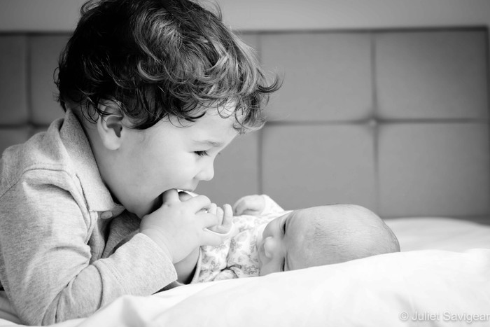 Big Brother (Toddler) Cuddles for Newborn Baby - East Dulwich