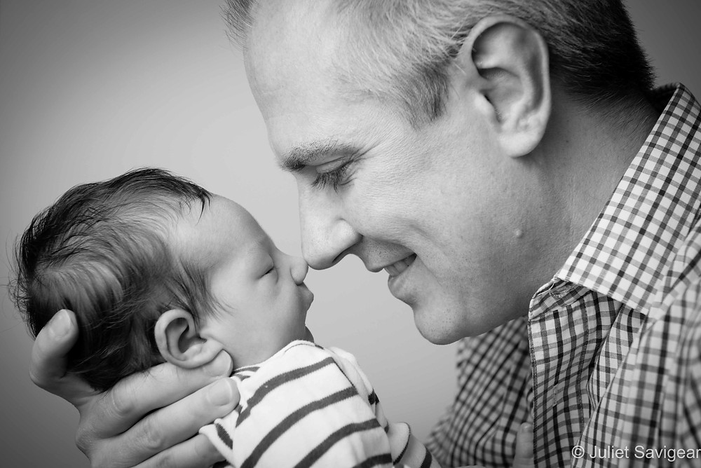 Nose To Nose - Newborn Baby Photography, Hampstead
