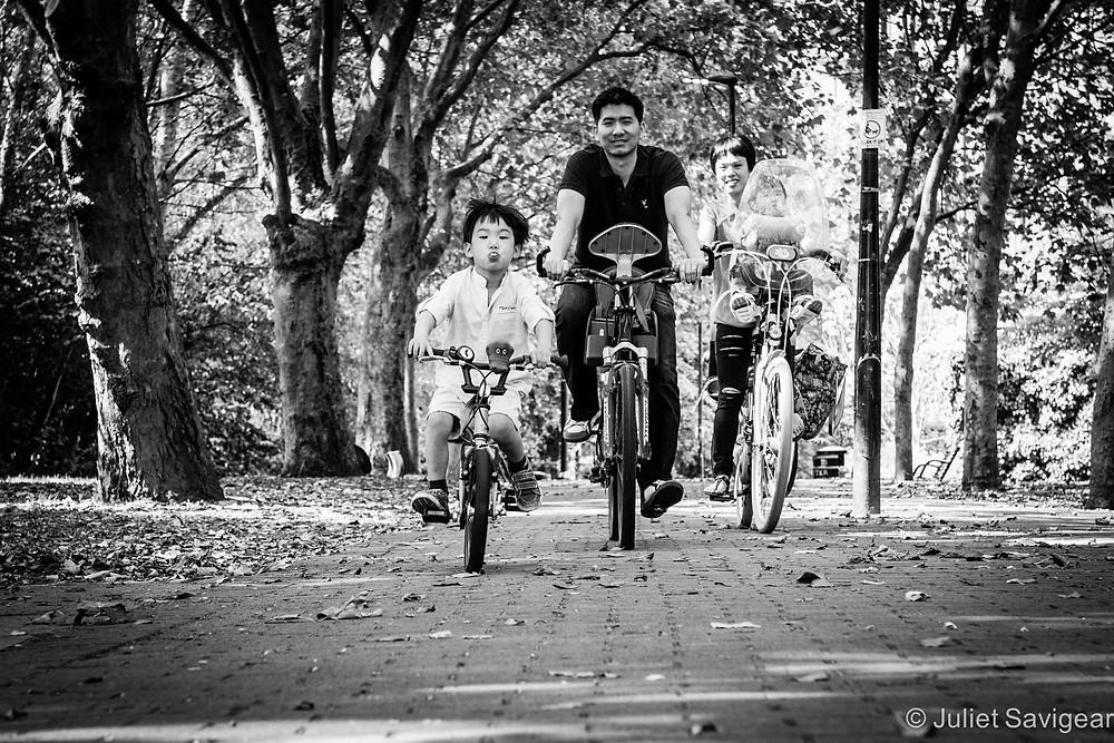 Family Bike Ride - Family Photography, Wapping, London