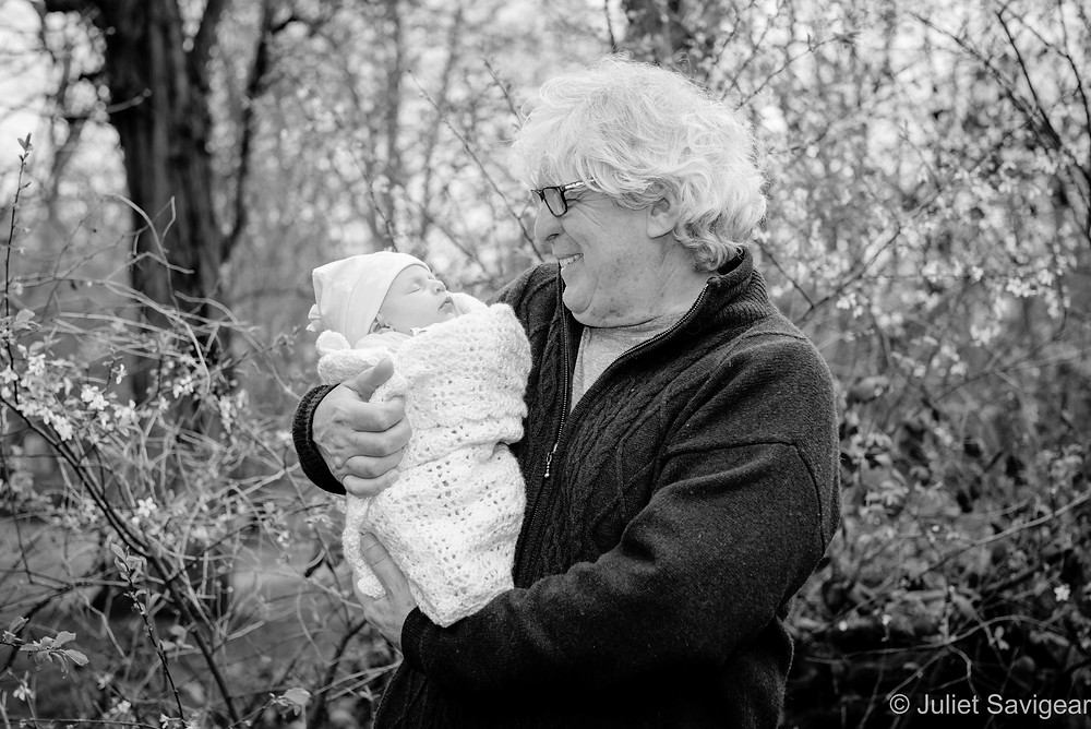 Grandfather with baby girl