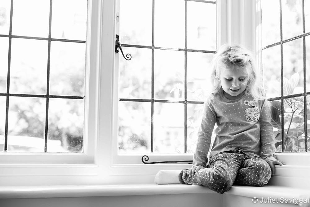 In The Window - Children's Photography, Surrey