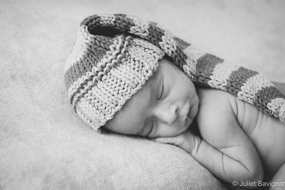 Newborn Baby Boy With Hat