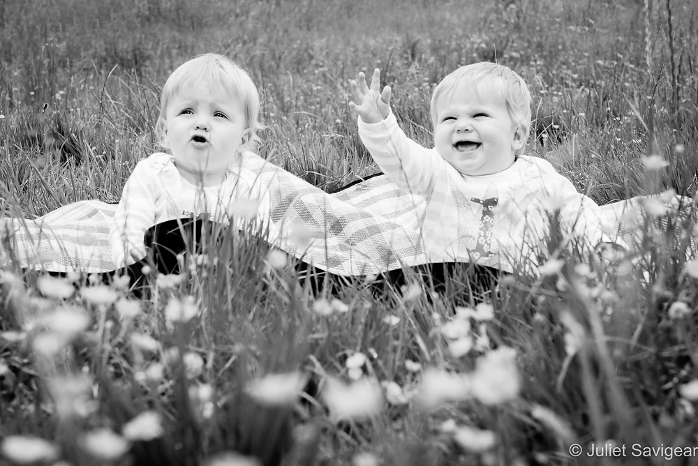 Twins among the buttercups