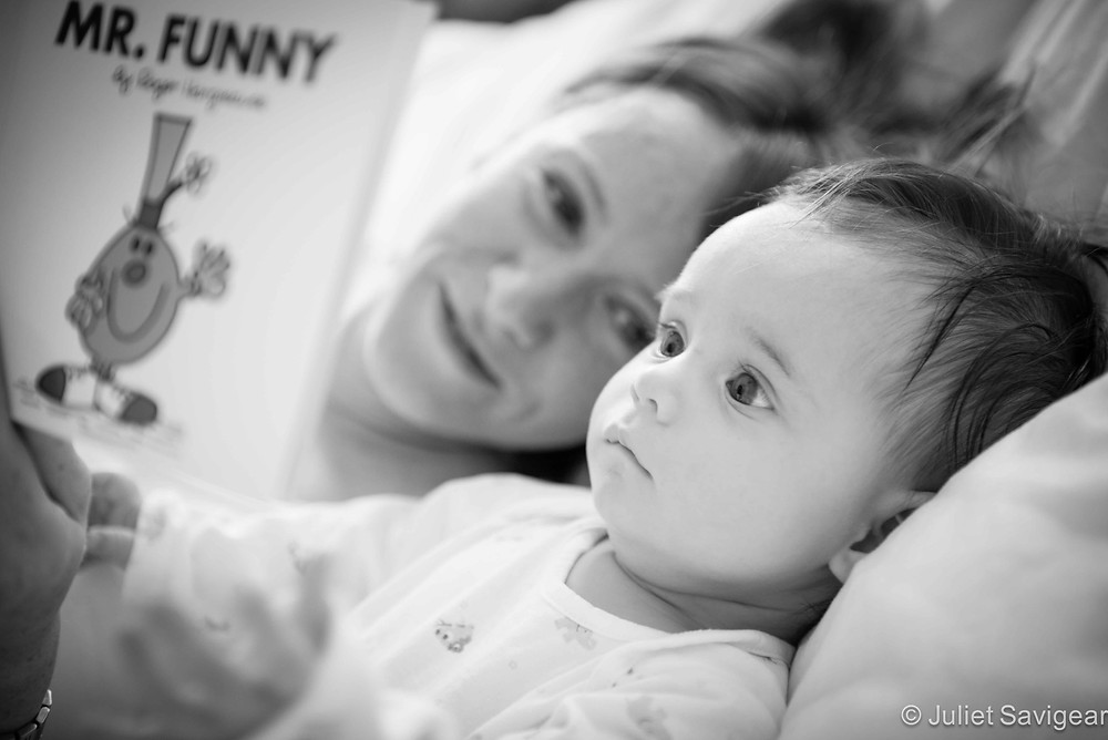 Reading To Baby - Baby & Family Photography, Balham