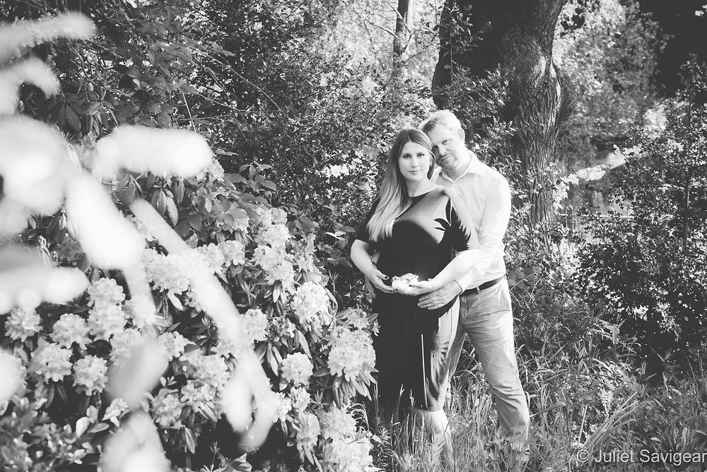 Maternity photography among the rhododendrons